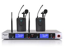 U段真分级一拖二无线话筒 MC-802(领夹式)